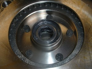 hub and rotor assembly with bearings installed
