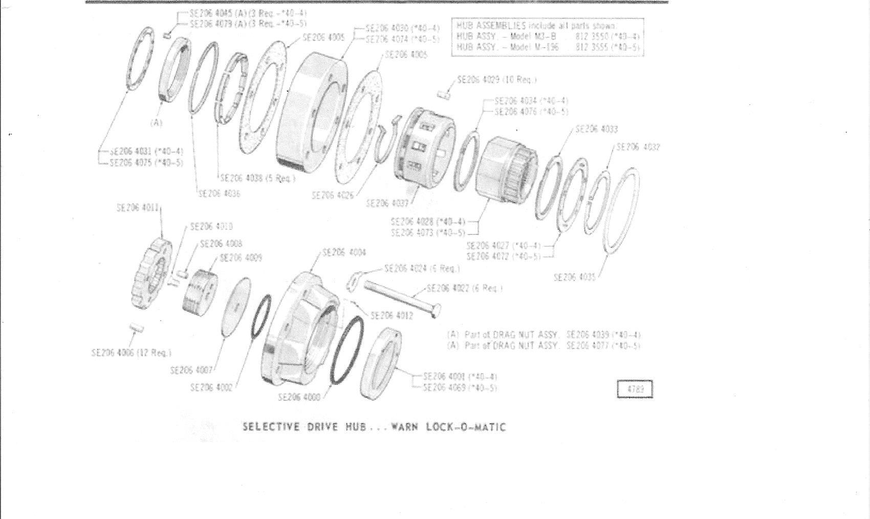 schematics and parts lists herm the overdrive guy Dana 44 Rear Axle Diagram warn lock o matic hub
